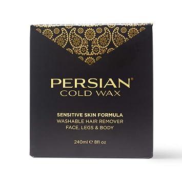 Persian Cold Wax Kit, Hair Removal Sugar Wax for Body Waxing Women & Men, 8  oz (240ml) wax, 20