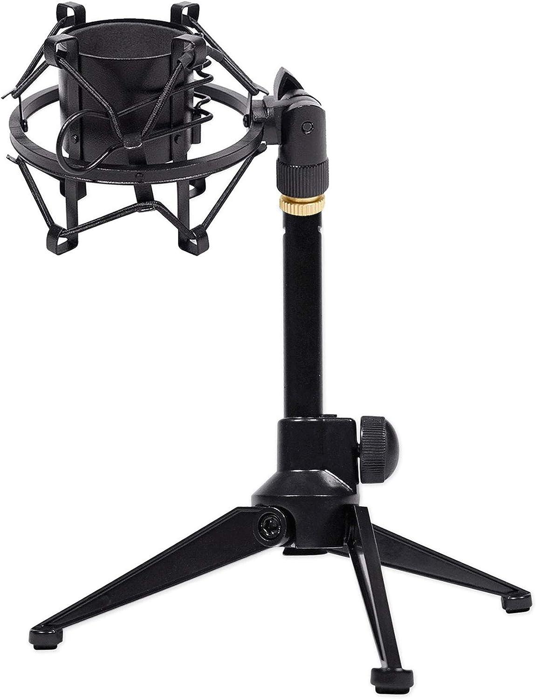 Rockville RDTS Adjustable Studio Desktop Tripod Microphone Stand+Shockmount