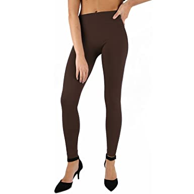 602d3c1d024ad8 AMOS Thermal Contour Leggings Ladies Womens Shapewear Skinny Slim Fit  Seamless Thick Fleece Lined Winter Trousers Slimming Stretch Pants (12, ...
