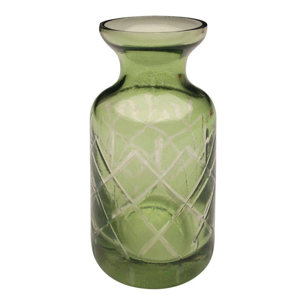 "ART & ARTIFACT Set of 5 Petite Glass Bud Vases in Clear or Jewel Tones- Fun Shapes, 2 3/4""-3 3/4"" H - Jewel Tones"