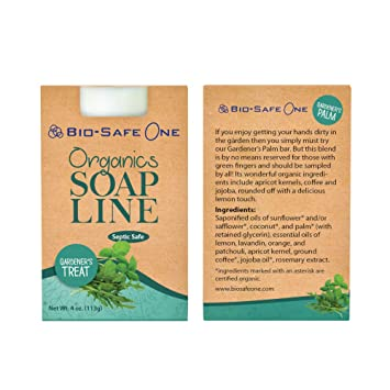 Organic Natural Gardeners Treat Hand Wash Soap Shampoo Bar w/apricot kernels, Coffee &