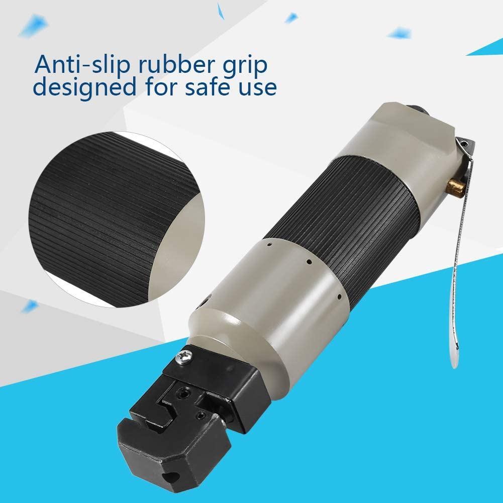 Acogedor Punch Flange Tool,Air Punch Flange Tool,5mm Hole Pneumatic Punch Flange Tool,Air Flange Tool with Wrench, Connector,for Plastic Metal Drilling Punching Folding.