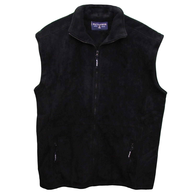 Mens Metaphor Big King Size Fleece Bodywarmer Zip Up Winter Gilet Jacket 2XL-6XL