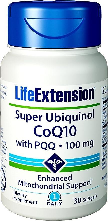 ubiquinolo  Life Extension,Super ubiquinolo coenzima Q10 con BioPQQ, 100 mg, 30 ...