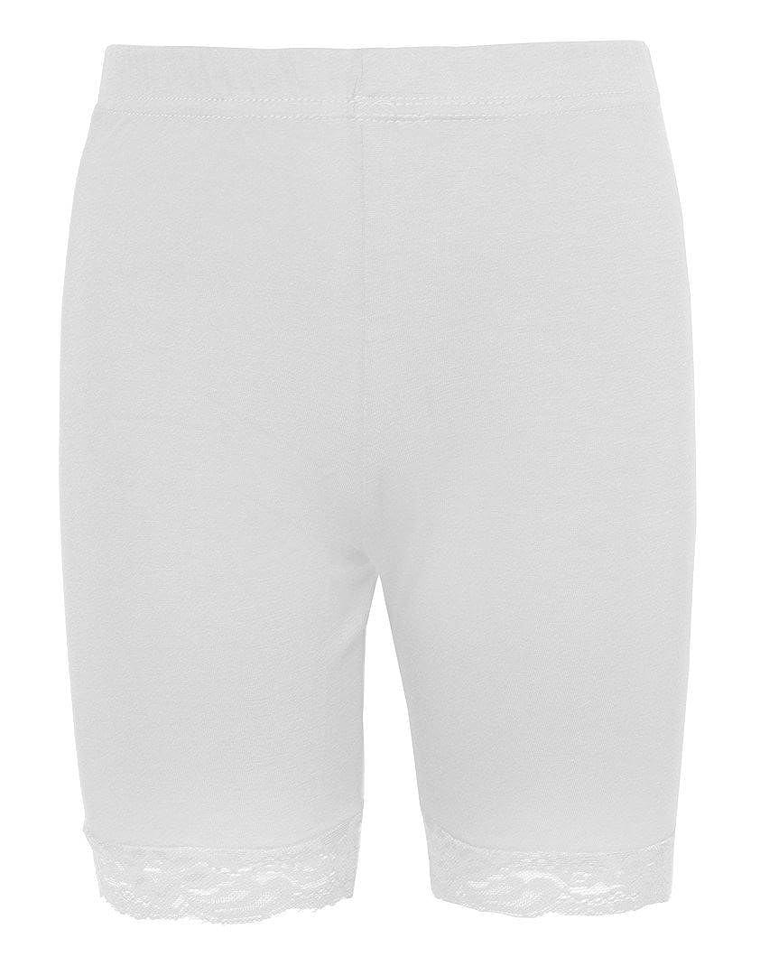 Love Lola Cycliste stretch avec bord en dentelle pour femme Blanc   Amazon.fr  Vêtements et accessoires 0806aae4281