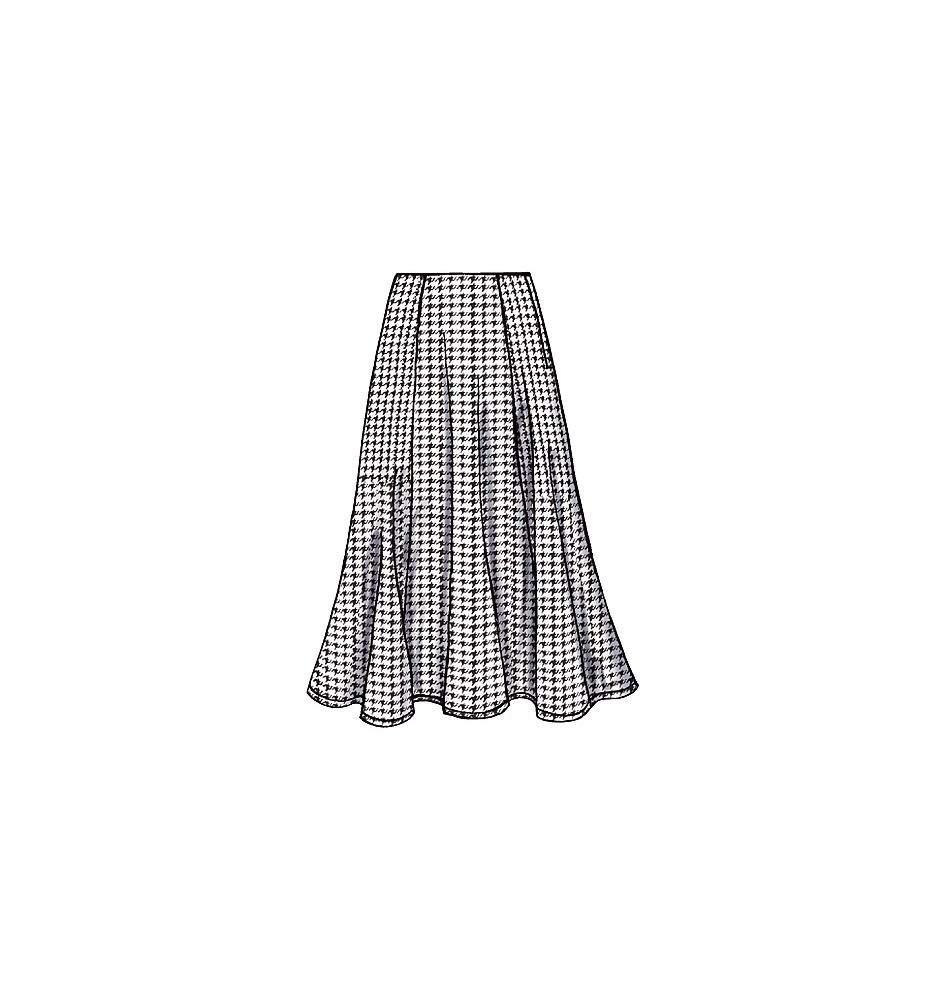 Butterick Patterns B4136 Misses//Misses Petite Skirt Size 20-22-24