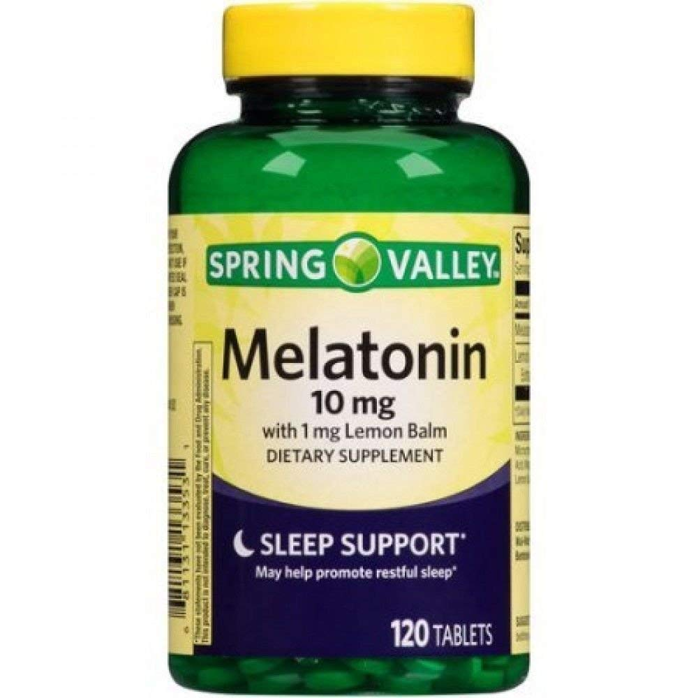 Spring Valley - Melatonin 10 mg, 120 Tablets