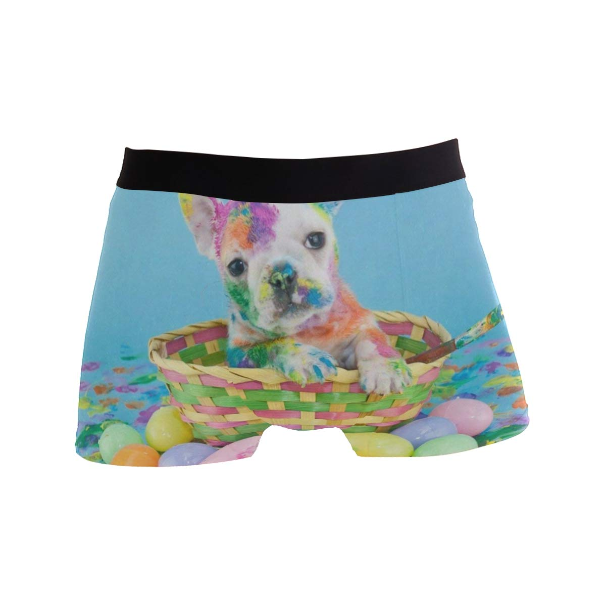 CATSDER French Bulldog Easter Egg Boxer Briefs Mens Underwear Pack Seamless Comfort Soft