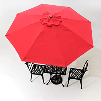 8Ft 8 Ribs Patio Umbrella Replacement Canopy Outdoor Cover Top Color Optional & Amazon.com : 8Ft 8 Ribs Patio Umbrella Replacement Canopy Outdoor ...