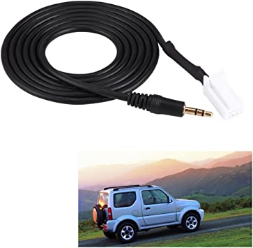 8 pin AUX Input Audio Cable Adapter Compatible with Suzuki SX4 Grand Vitara Swift Jimny Clarion car Radio and Subaru BRZ Forester Outback Legacy Impreza 4.9 ft