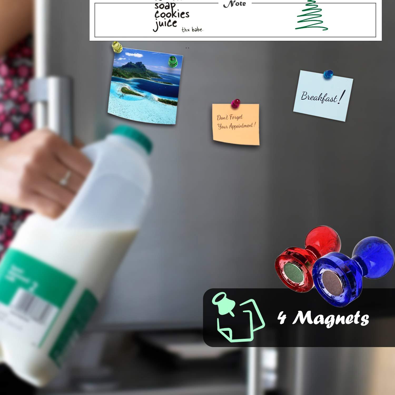 Amazon.com: Pizarra blanca magnética de borrado en seco para ...