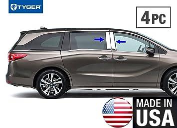 TYGER For 2011-2017 Honda Odyssey 6PC Stainless Steel Chrome Pillar Post Trim