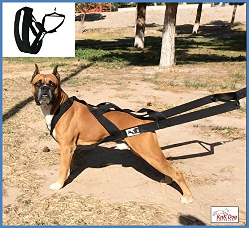 Pulling Animal (Big dog harness padded by KnK Dog Supplies | Weight Pulling Harness Vest Large Dogs Training Ruffwear quick Walking Canicross, Keep your Dog amused and in Great Shape by draining accumulated energy!)