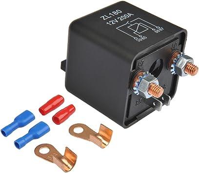 Ofnmy Relais Batterie Trennrelais 12v 200a Spitzenlast Batterietrennrelais Für Auto Pkw Wohnwagen Auto