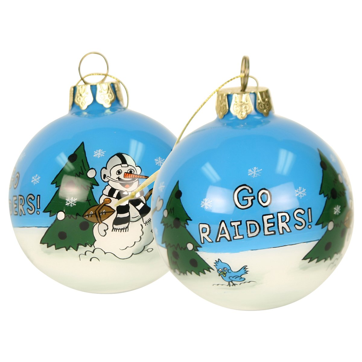 Amazon.com : Blown Glass Hand Painted Sports Christmas Ornaments ...