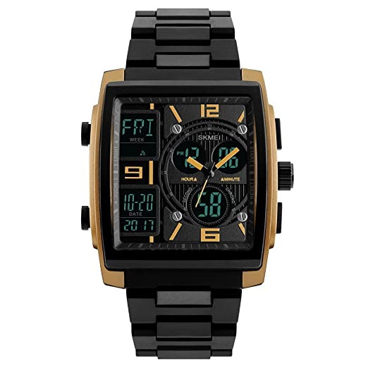 ecb08edf0770 SKMEI - Reloj de pulsera digital para hombre (resistente al agua ...