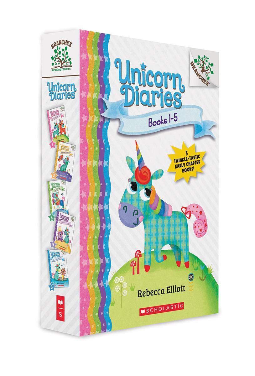 Amazon Com Unicorn Diaries Boxed Set Books 1 5 9781338752335 Elliott Rebecca Elliott Rebecca Books What reading level is unicorn diaries