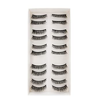135530ffb4 Buy Bepholan Mink Lashes Faux Mink Lashes Strip False Eyelashes Natural  Look Black Short Reusable Cheap Fashion Multipack for Make Up (10 pairs)  Online at ...