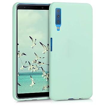 kwmobile Funda para Samsung Galaxy A7 (2018) - Carcasa para móvil en [TPU Silicona] - Protector [Trasero] en [Menta Mate]