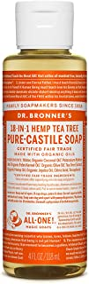 product image for Dr. Bronner's - Pure-Castile Liquid Soap (Tea Tree, 4 ounce) - Made with Organic Oils, 18-in-1 Uses: Acne-Prone Skin, Dandruff, Laundry, Pets and Dishes, Concentrated, Vegan, Non-GMO