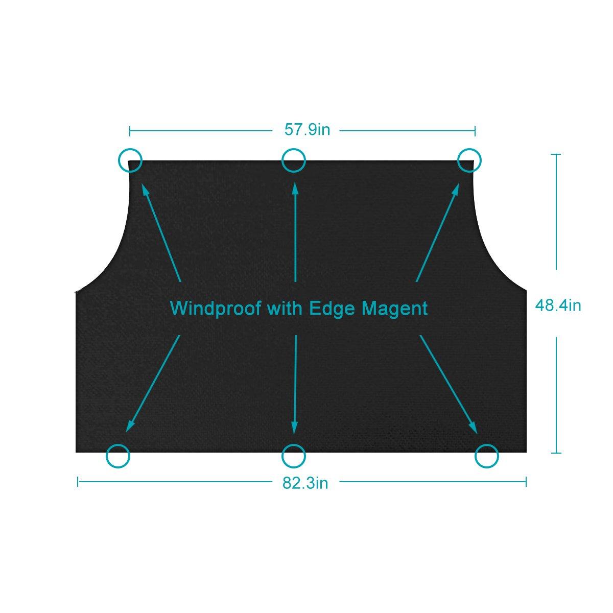 Yoobure Premium Car Windshield Snow Cover Sun Shade Protector Visor Front Rear Windshield Cover Block Shields Car Window Cover Keeps Ice /& Snow Off /…