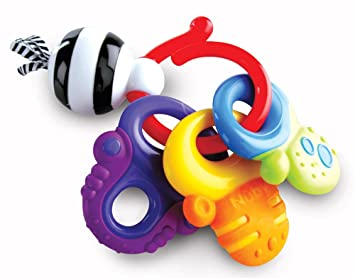 Amazon Com Nuby Fun Keys Teether Ring Baby Teether Toys Baby