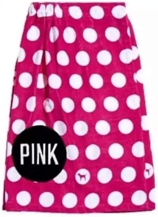 Victoria/'s Secret Pink Towel Wrap Polka Dots Spa Shower Bath Pocket Vs New Nwt