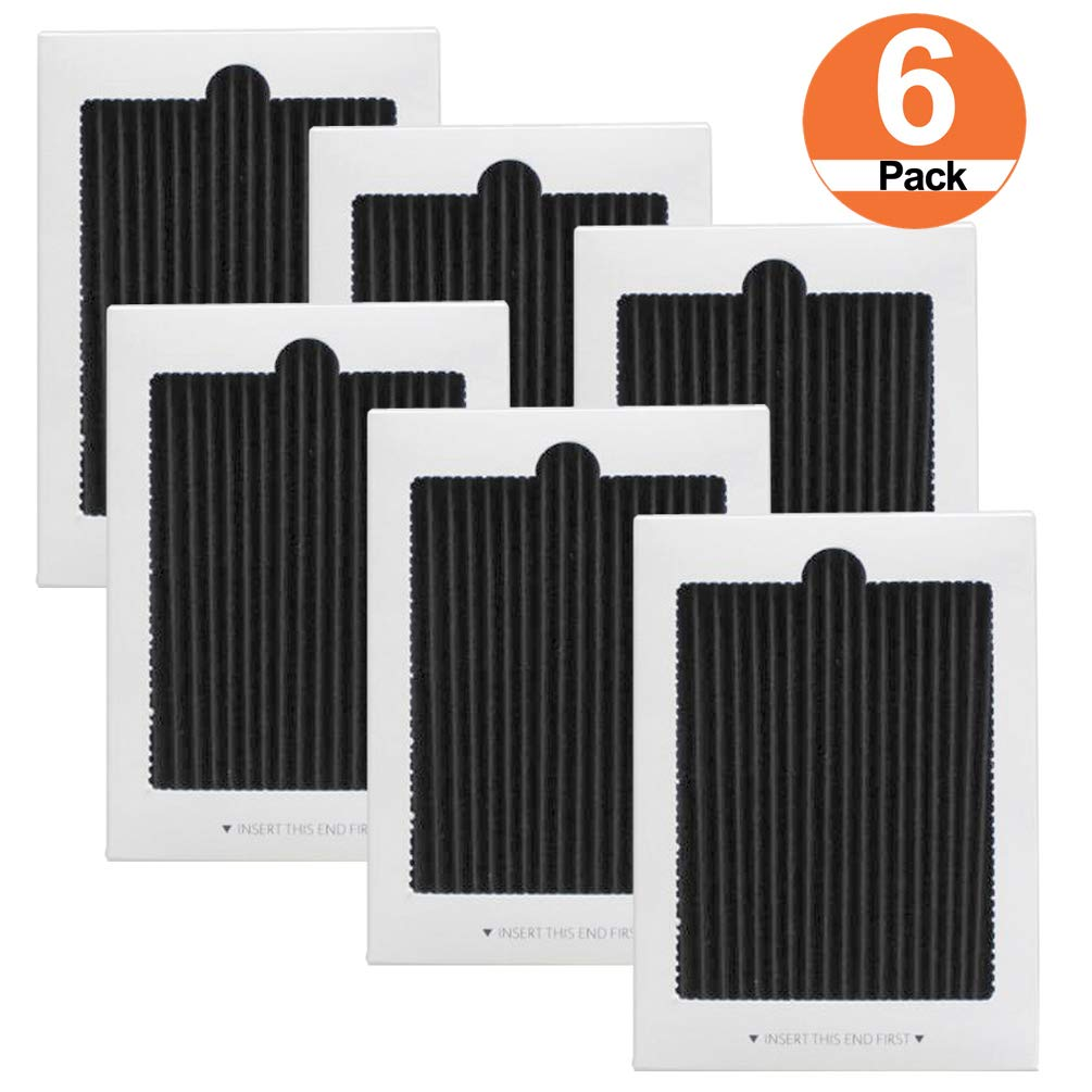 6 Pack Pleated Refrigerator Air Filters Replacement for Frigidaire PAULTRA,SCPUREAIR2PK,Electrolux EAFCBF,242047801/242061001/241754001