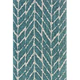 Loloi ISLEIE-02TEGY5377 Rugs Isle Collection Area Rug, Teal/Grey, 5-Feet 3-Inchx7-Feet 7-Inch