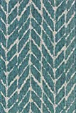 Loloi Rugs ISLEIE-02TEGY5377 Isle Collection Area Rug, Teal/Grey, 5′ 3″ x 7′ 7″ Review