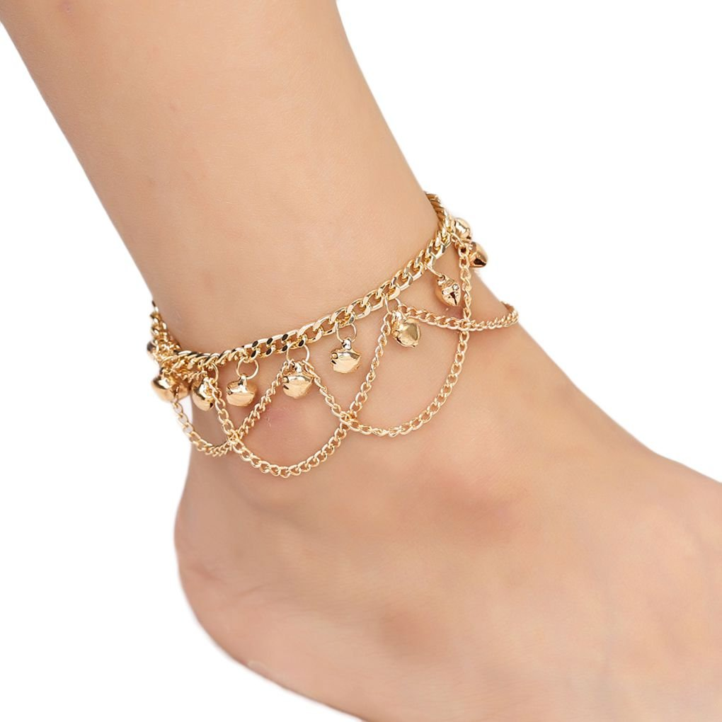 Anklets Silver Crystal Rhinestone Beaded Anklet Ankle Bracelet Chain Adjustable Uk Reliable Performance