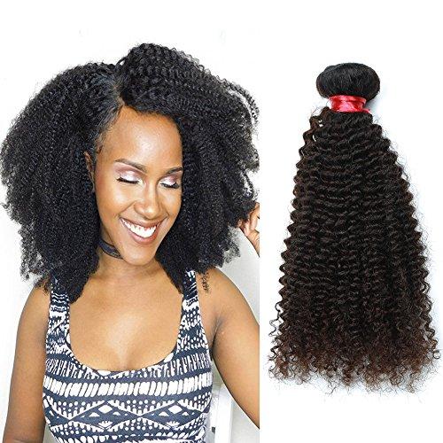 Unprocessed Virgin Hair Brazilian Afro Kinky Curly Hair Weave 3 Bundles NICE QUEEN Hair Human Hair Extension bebe curl No Shedding (10 12 14)