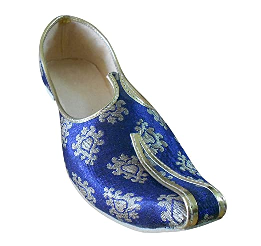 Men's Traditional Indian Silk Groom Shoes