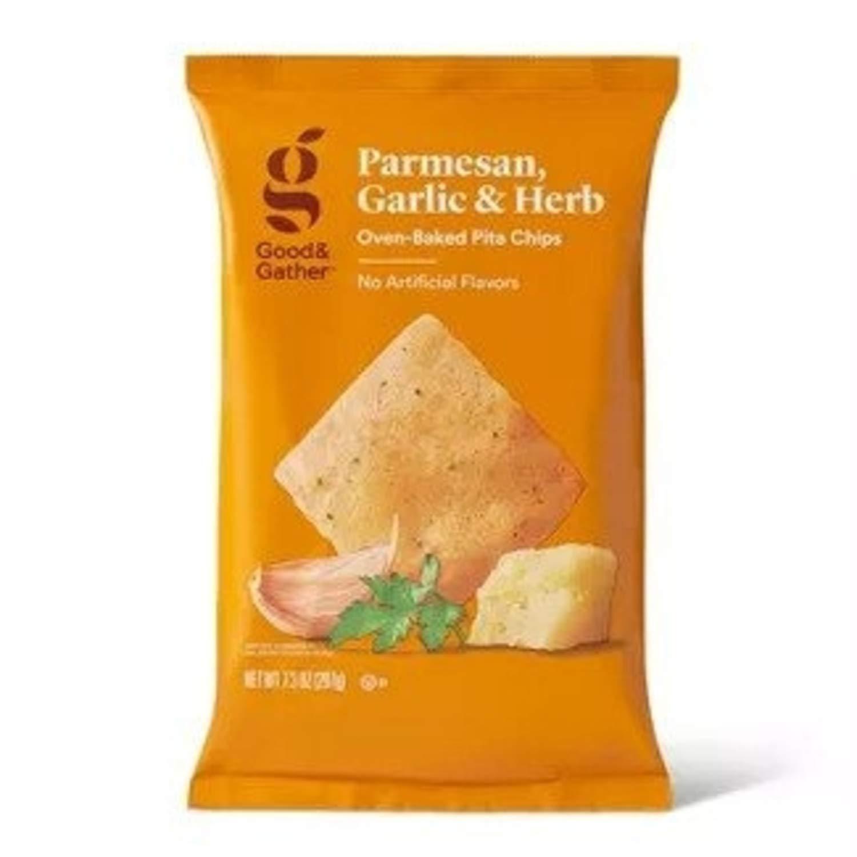 Good & Gather Parmesan Garlic & Herb Baked Pita Chips 7.3oz Pack of 15