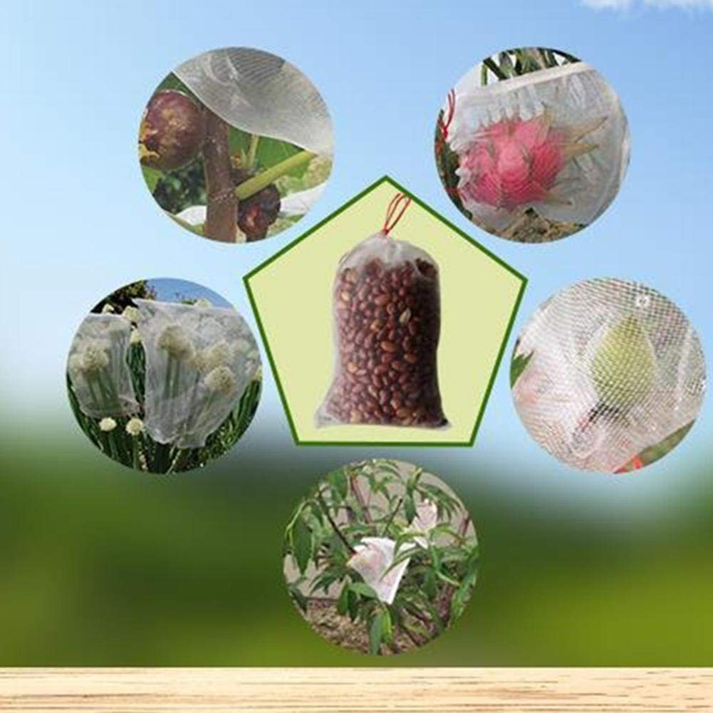Sac Filets Filet De Protection pour Le Jardin en Nylon Durable R/éutilisable avec Un Cordon Moustiquaire Bug Insectes Filet Anti-Oiseaux Barri/ère pour Fruit du Dragon Concombre Et Autres Fruits