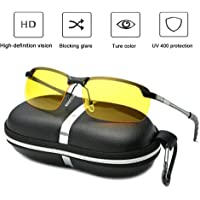 Vaycally Anti-Glare Motorcycle motocross goggles Cycling Glasses Polarized Night Driving Lens Glasses Women Men Cycling Sunglasses with UV400 Protection