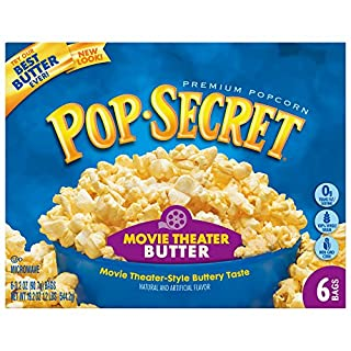 Pop Secret Microwave Popcorn, Movie Theater Butter, 6-Count Boxes (Pack of 6)