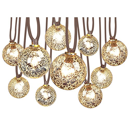 Allen and Roth 10.5-ft 10-Light  Mercury Glass-Shade Plug-in Globe String Lights (Lights Allen Christmas)