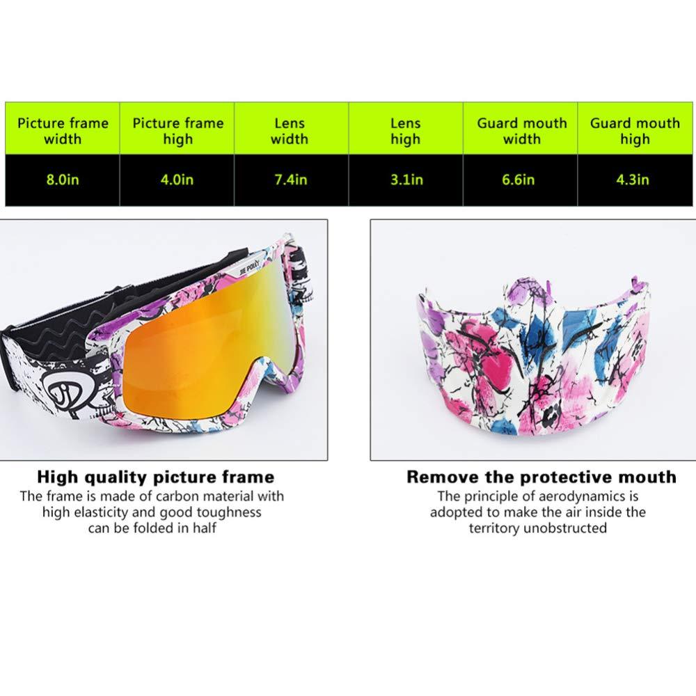 YSH Skibrille, Retro-Maske, Brille, Motocross-Reitbrille Für Den Außenbereich Für Für Für Männerfrauen,D B07L56B35X Skibrillen Bekannt für seine schöne Qualität 757a15