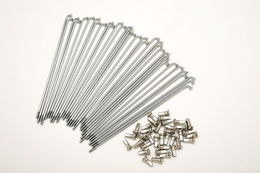 kit 40 raggi e nipples diametro 3,5 mm lunghezza 200 mm piegatura 90/°