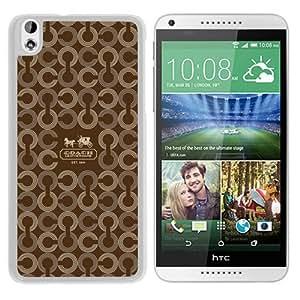 Popular Sell Design Coach 26 White HTC Desire 816 Protective Phone Case