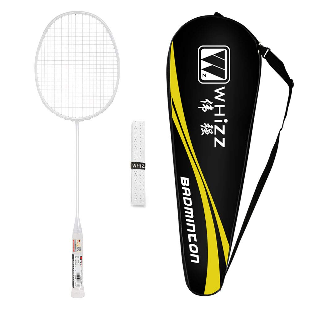 Frame//String Protection Design Bag /& Grip Included Whizz 79g Badminton Racket One Piece Graphite Pink