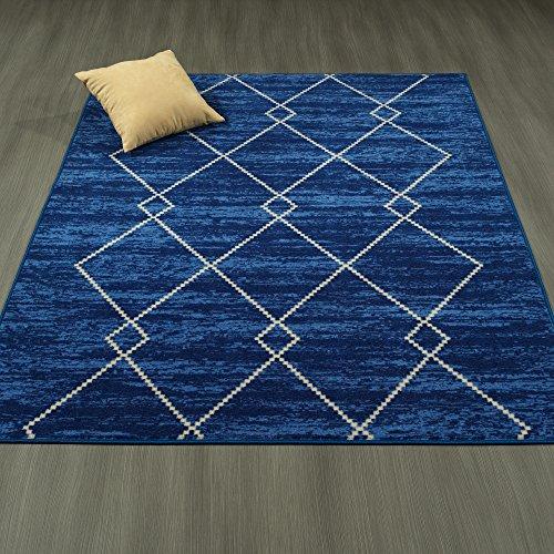Cheap Ottomanson Studio Collection Diamond Trellis Design Area Rug, 3'3″ X 5'0″, Blue