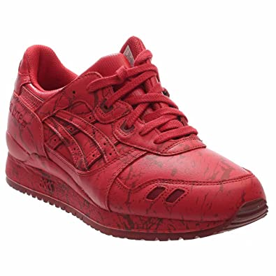 Asics Gel-Lyte III Marble Pack Mens Red Leather Lace Up Sneakers Shoes 11