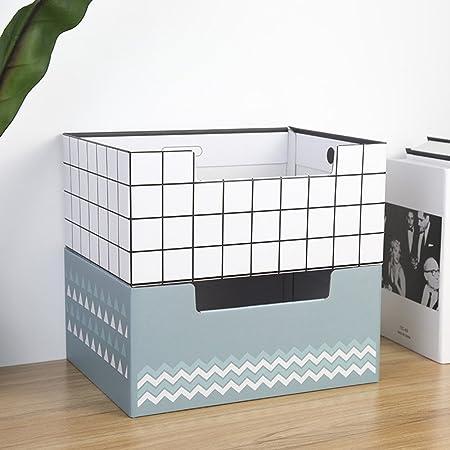 Gububi Organizador de Suministros de Escritorio, Dos estanterías de Papel Caja de Acabado Cajas de Almacenamiento de mostrador Cajas de Almacenamiento de Escritorio de Escritorio (Color : Gray+White): Amazon.es: Hogar