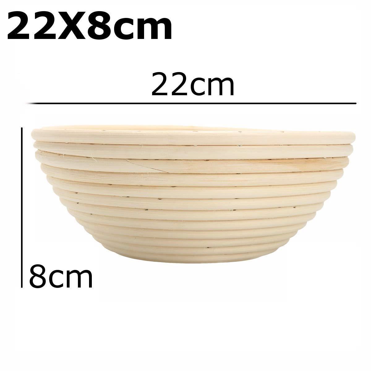 Best Quality - Storage Baskets - Bread Basket Banneton Brotform Rattan Proofing Basket Liner Round Oval Fruit Tray Dough Food Storage Container Organizer Basket - by GTIN - 1 PCs by HIBISCUS. (Image #7)