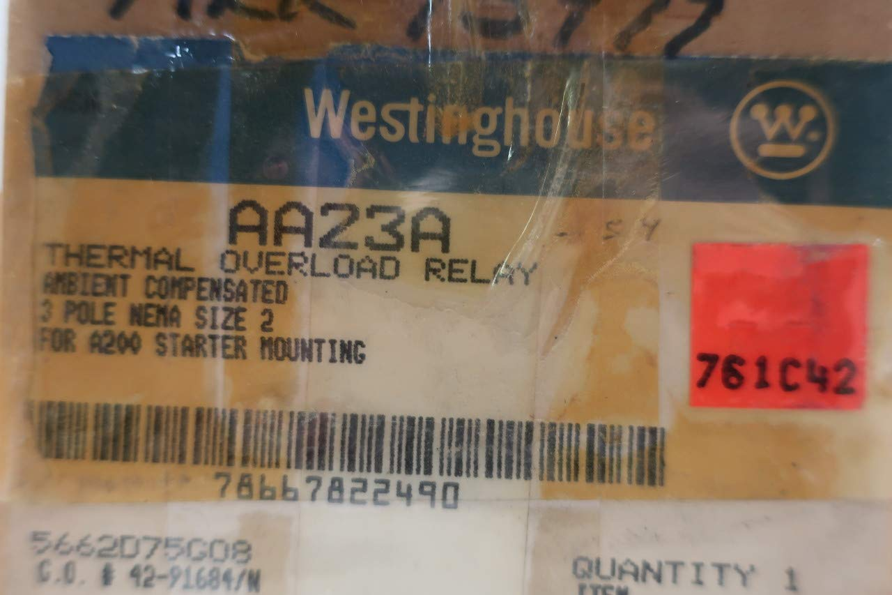 WESTINGHOUSE AA23A Thermal Overload Relay 600V