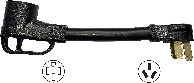 ONETAK NEMA 10-50P to 14-50R 120V/240V 50 Amp Welder Welding Dryer Power Cord Adapter Adaptor Connector Connecter
