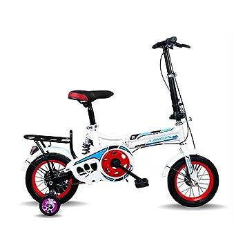 Bicicleta Plegable para Adultos 16 Pulgadas para Hombres Y Mujeres Niños Estudiantes De Escuela Primaria Y