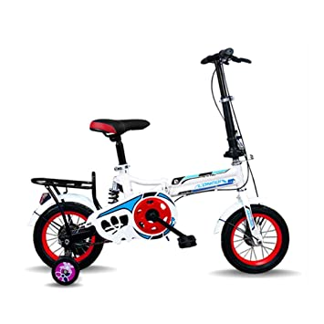 LETFF Bicicleta Plegable para Adultos Bicicleta de Amortiguador de Choque Infantil de 16 Pulgadas